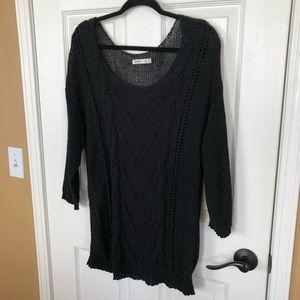 Old Navy Light Black 3/4 Sleeved Sweater Cover